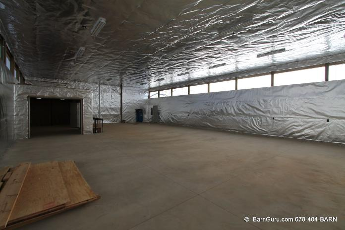 Barn And Shed Installation Warehousefoil Radiant Barrier